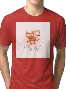 Cat in love. Tri-blend T-Shirt