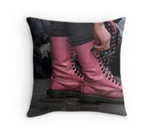 yeah but...am I bovvered! Throw Pillow