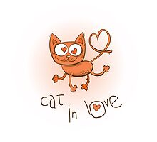 Cat in love. by Voron4ihina
