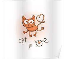 Cat in love. Poster