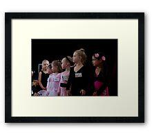 Saturday morning ballet class Framed Print