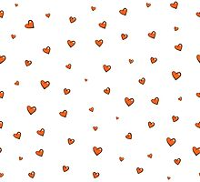 Pattern with hearts. by Voron4ihina
