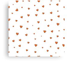 Pattern with hearts. Canvas Print
