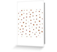 Pattern with hearts. Greeting Card
