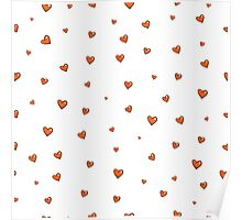Pattern with hearts. Poster