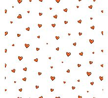 Pattern with hearts. Photographic Print