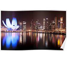 Marina Bay Skyline (Night) Poster