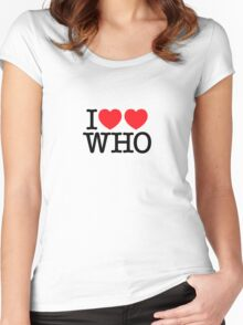 I ♥♥ WHO (light) Women's Fitted Scoop T-Shirt
