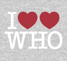 I ♥♥ WHO (dark) One Piece - Short Sleeve