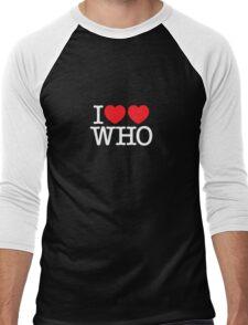I ♥♥ WHO (dark) Men's Baseball ¾ T-Shirt