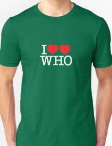 I ♥♥ WHO (dark) Unisex T-Shirt