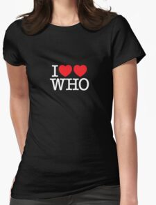 I ♥♥ WHO (dark) Womens Fitted T-Shirt