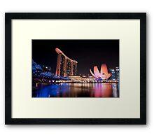 Marina Bay Skyline (Night) Framed Print