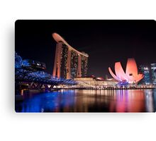 Marina Bay Skyline (Night) Canvas Print
