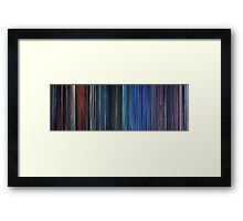 Moviebarcode: TRON (1982) Framed Print