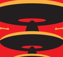 No285 My Three Amigos minimal movie poster Sticker