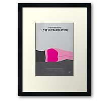 No287 My Lost in Translation minimal movie poster Framed Print