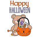 Happy Halloween Little Boy Bear by purplesensation