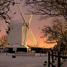 Oldlands Windmill in the snow - Hassocks by oindypoind