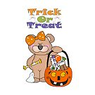 Trick Or Treat Little Girl Bear by purplesensation