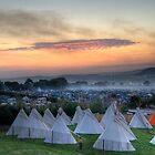Glastonbury Festival Sunset by oindypoind