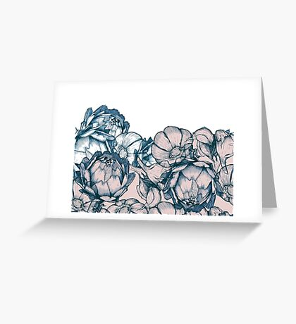 In my garden of pink and blue Greeting Card