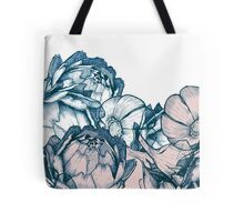 In my garden of pink and blue Tote Bag