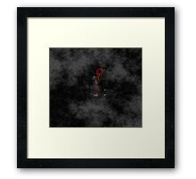 Smile! You're at 221B - red, foggy Framed Print