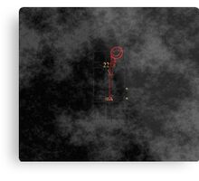 Smile! You're at 221B - red, foggy Metal Print