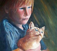 Child and Cat by Linda Bryant
