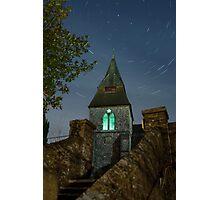 Keymer Church Startrail Photographic Print