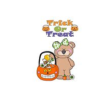 Trick Or Treat Little Girly Bear by purplesensation