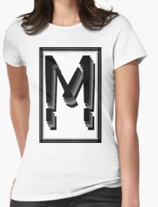The Alphabet  The letter M Womens Fitted T-Shirt