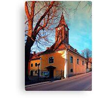 The village church of Waxenberg Canvas Print