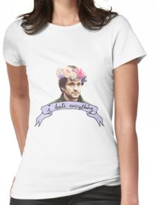 Will Graham Hates Everything. Womens Fitted T-Shirt