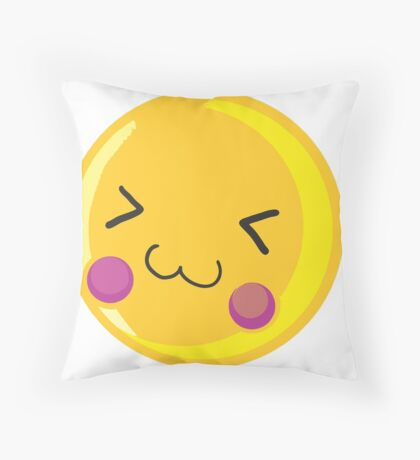 Cute emoticon Throw Pillow