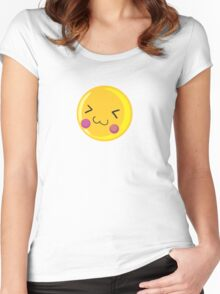 Cute emoticon Women's Fitted Scoop T-Shirt