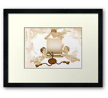 Angels greeting Framed Print