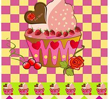 """For Mom"" cupcake card by walstraasart"