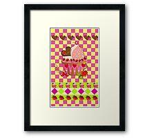 """For Mom"" cupcake card Framed Print"