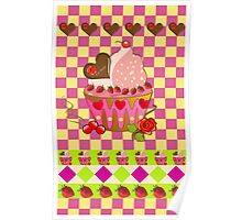 """""""For Mom"""" cupcake card Poster"""