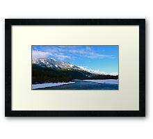 Brackendale scenery: snowy mountains Framed Print