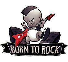 Born to rock Photographic Print
