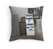 Brisbane Floods 2011 - Clean Up - Message To The Masses Throw Pillow
