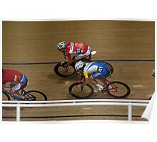Chasing round the banking Poster