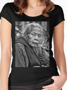 old women BW Women's Fitted Scoop T-Shirt