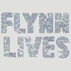 Flynn Lives Distressed Dark Blue by SkekTek