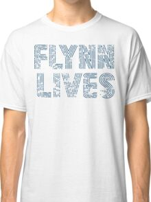 Flynn Lives Distressed Dark Blue Classic T-Shirt