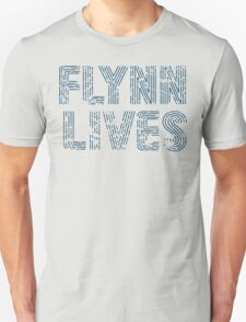 Flynn Lives Distressed Dark Blue T-Shirt