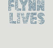 Flynn Lives Distressed Dark Blue Unisex T-Shirt